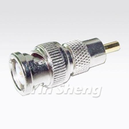 BNC Plug To RCA Plug Adapter, 50 ohm - BNC Plug To RCA Plug Adapter, 50 ohm