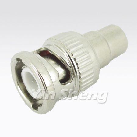BNC Plug To RCA Jack Adapter, 50 ohm - BNC Plug To RCA Jack Adapter, 50 ohm