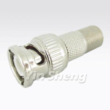 BNC Plug To F Jack Adapter - BNC Plug To F Jack Adapter
