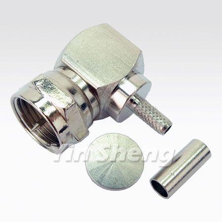 F Plug Right Angle Crimp For RG179U Cable