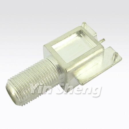 F Jack Right Angle PCB Mount Receptacle - F Jack Right Angle PCB Mount Reseptacle