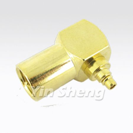 FME Plug Right Angle To MMCX Plug Adapter - FME Plug Right Angle To MMCX Plug Adapter