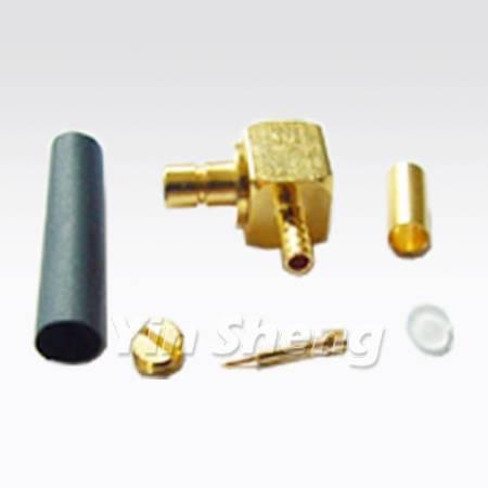 SMB Jack Right Angle Crimp for RG174U, RG179U, RG316U Cable