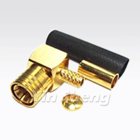 SMB Plug Crimp Right Angle for RG316U, RG174U, RG188U Cable, 50ohm