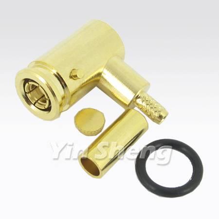 SMB Plug Crimp 120 Dr. Keyed Specification for RD316U Cable, 50ohm