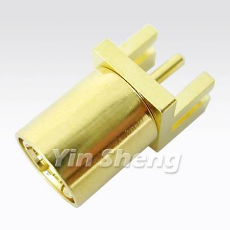 SMB Plug Receptacle EDGE PCB Mount