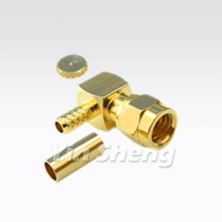 SMC Plug Right Angle Crimp for RG174U