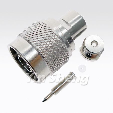 N Plug Solder Clamp for RG405 / .086 Semi-rigid Cable