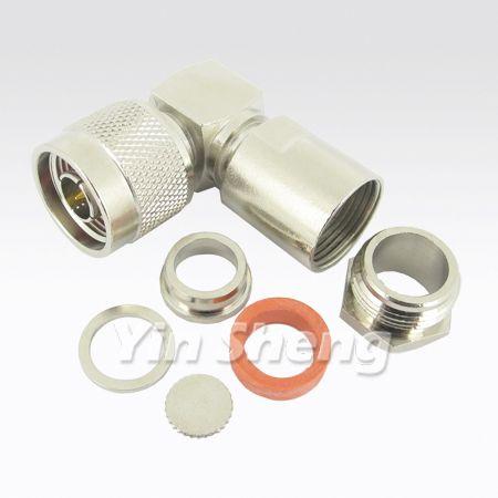 N Plug Clamp Raight Angle for CNT400,LMR400,CFD400 Cable