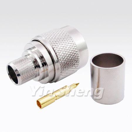 N Plug Crimp for RG8U,BELDEN9913,LMR400 Cable, 50ohm