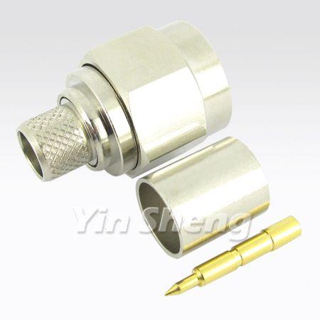 N Plug Crimp for RG8U, BELDEN9913, LMR400 Cable, 50ohm