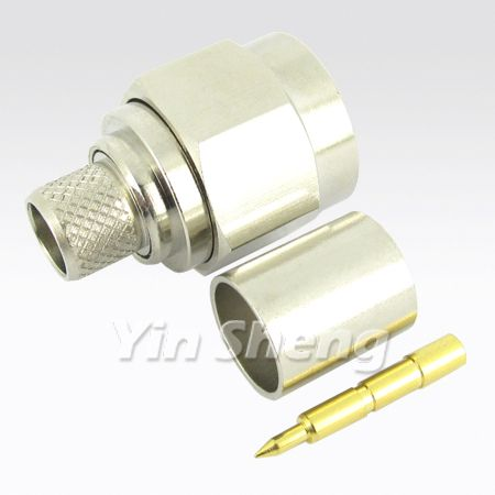 N Plug Crimp for RG8U, BELDEN9913, LMR400 Cable, 50ohm