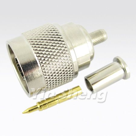 N Plug Crimp for RG8X Cable, 50ohm