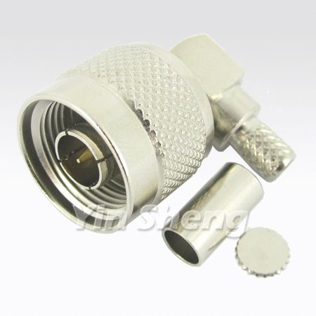 N Plug Crimp Right Angle for H155 Cable