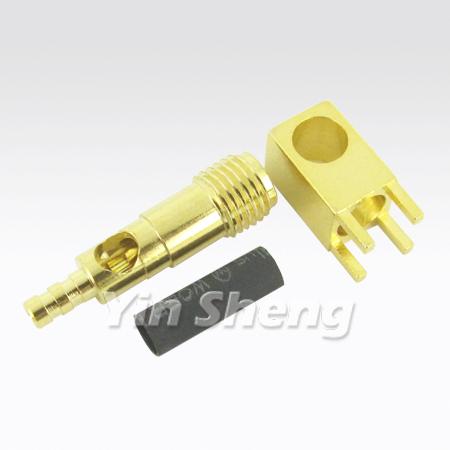 1.13 케이블용 PCB 마운트용 SMA 잭 압착 직각 - 1.13 케이블용 PCB 마운트용 SMA 잭 압착 직각