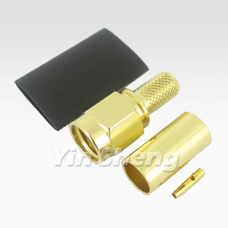 SMA Plug Crimp, Revise Polarity type - SMA Plug Crimp, Revise Polarity type