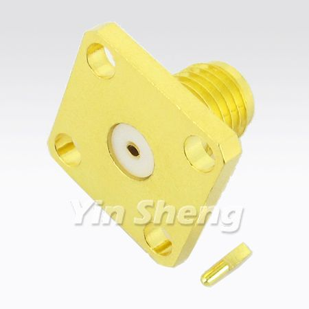 SMA Jack for Panel Receptacle (Collet for pin)