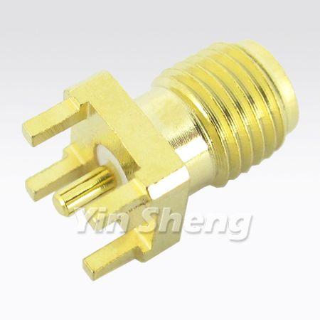 Montaje en PCB de conector recto SMA - Montaje en PCB de conector recto SMA