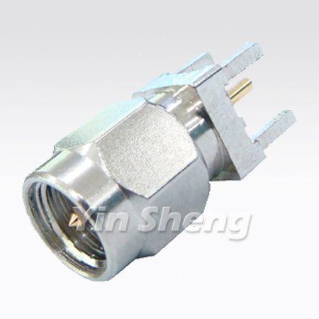 Montaje en PCB con receptáculo de enchufe vertical SMA - Montaje en PCB con receptáculo de enchufe vertical SMA