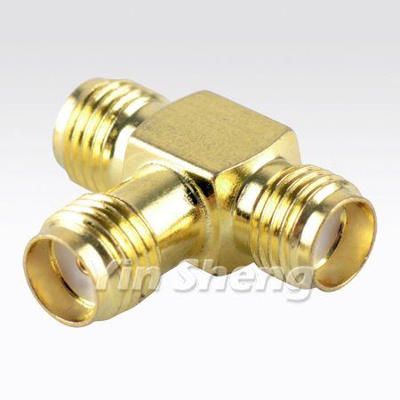 """Tipo SMA """"T"""", adaptador de tres clavijas, 50 ohmios - Tipo SMA """"T"""", adaptador de tres clavijas, 50 ohmios"""