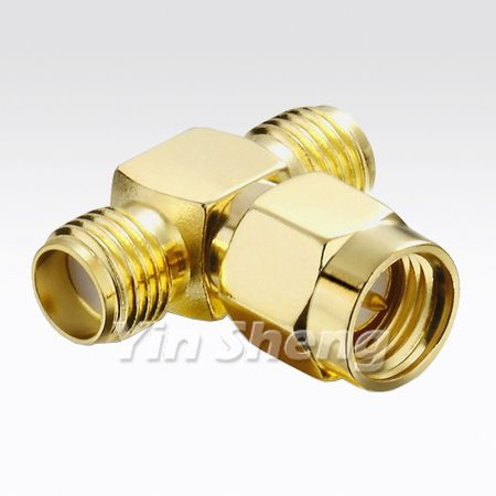 SMA ''T'' Type, One Plug to Two Jack Adapter, 50 ohm - SMA ''T'' Type, One Plug to Two Jack Adapter, 50 ohm