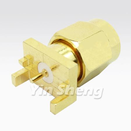 SMA Plug END Launch Receptacle-Round Contact - SMA Plug END Launch Receptacle-Round Contact