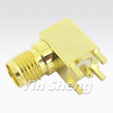 SMA Jack Right Angle PCB Mount Receptacle