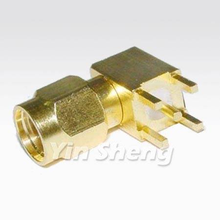 SMA Plug Right Angle PCB Mount Receptacle