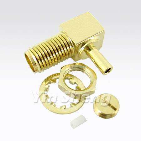 SMA Jack Crimp Right Angle for 1.13mm Cable - SMA Jack Crimp Right Angle for 1.13mm Cable