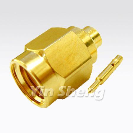 SMA Plug Solder for RG405U, 50ohm - SMA Plug Solder for RG405U, 50ohm