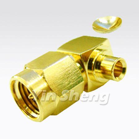 SMA Plug Right Angle Solder for RG405U, 50ohm - SMA Plug Right Angle Solder for RG405U, 50ohm