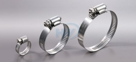 """American Type Hose Clamp, Stainless Steel, Range 1/4 to 1/2"""""""