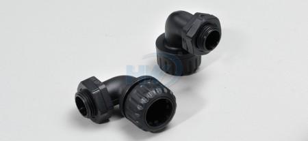L型波浪管接头,PA66,适用浪管型号NFC-28 - L型波浪管接头