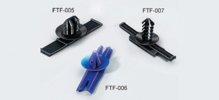 """插鞘式束帶固定卡座,可嵌入式,PA66,安裝孔徑0.30~0.54""""(7.6~13.8mm) - 插鞘式束帶固定卡座"""