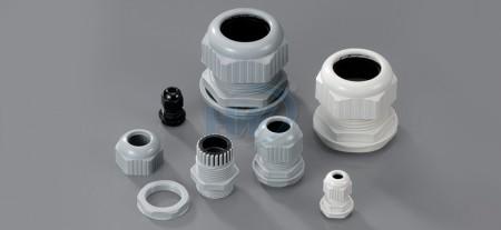 Prensaestopas, rosca PG, poliamida, rango de cable 3,0 ~ 6,5 mm2, diámetro del orificio de montaje. ø13,0 mm - Prensaestopas_PG