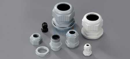 Cable Glands,PG Thread,Polyamide,Cord Range 3.0~6.5mm2, Mounting Hole Dia. ø13.0 mm