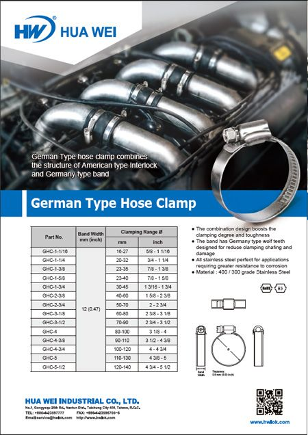 German Type Hose Clamps Flyer