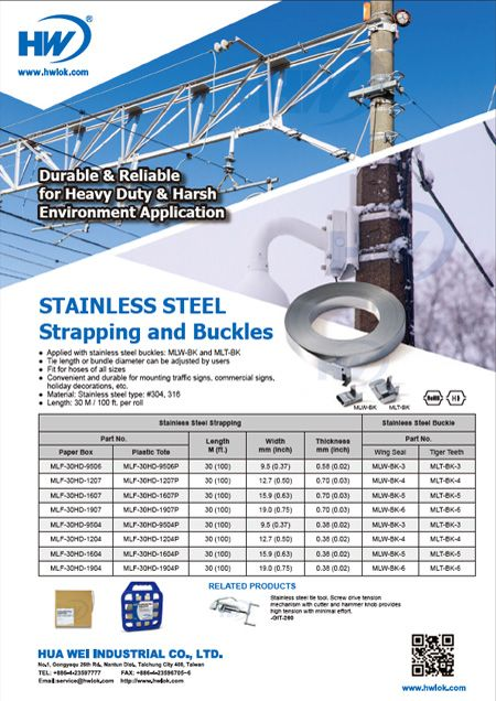 Stainless Steel Strapping and Buckle Flyer