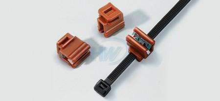 Clips de borde, poliamida, grosor del panel de 0,8 ~ 2,0 mm, 5 mm máx. ancho de la corbata. - Clips de borde