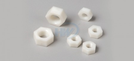 Hex Nuts, Polyamide, 5.5mm A/F, M3 Screw