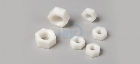 Hex Nuts, Polyamide, 5.5mm A/F, M3 Screw