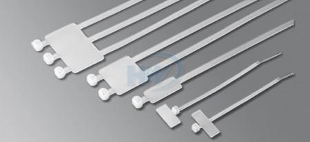 110x2.5mm(4.3x0.10インチ)、ケーブルタイ、PA66、 識別用結束バンド/プレート (マーカータグ付き) - 識別用結束バンド/プレート