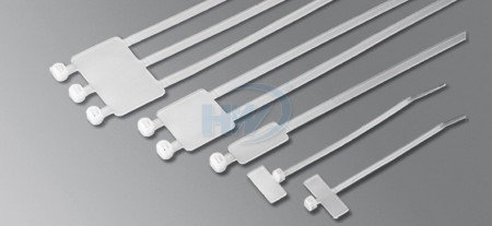110x2.5mm (4.3x0.10 inch), Cable Ties, PA66, Identification (with marker tag) - Identification Cable Ties
