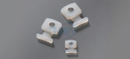 """束帶固定座,鎖固式,PA66,最大允許帶寬0.1""""(2.5mm) - 可嵌入式束帶固定座"""