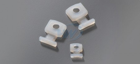 Cable Tie Mounts, Screw Applied Low Profile,Polyamide,2.5mm Max. tie width