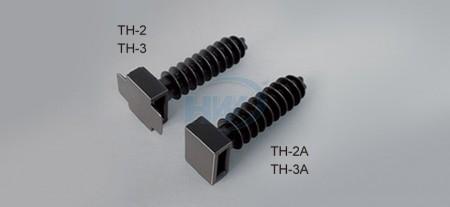 """壁虎式束帶固定座,PA66,最大允許帶寬0.35""""(9mm) - 壁虎型束帶固定座"""