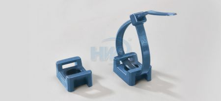 Metal Detectable Cable Tie Mounts,Saddle Type,Polyamide,4.8mm Max. tie width,3.7mm Mounting Hole - Metal Detectable Saddle Cable Tie Mounts