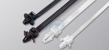 Cable Ties, Push Mount, Polyamide, 130mm, 2.5mm - Push Mount Cable Ties