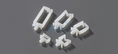 Wire Saddles,Push Mount,Polyamide,25.9mm length,4.8mm Mounting Hole Dia.