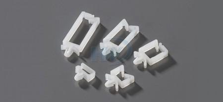"""插鞘式扭线环,PA66,孔径0.19""""(4.8mm),基板厚度0.07""""(1.7mm) - 马鞍型线扣"""